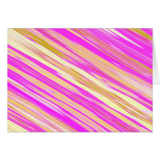 Cotton Candy Stripe Design Blank Cards