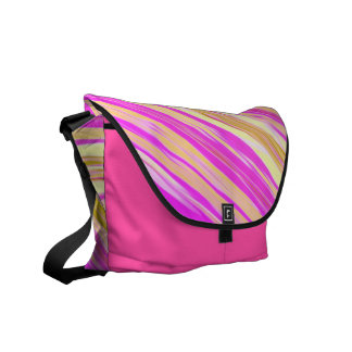 Cotton Candy Stripe Design Design Messenger Bag
