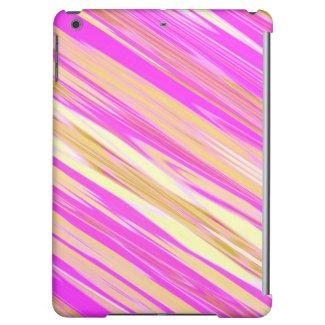 Cotton Candy Stripe Design iPad Air Case
