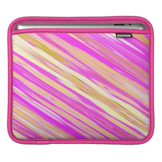 Cotton Candy Stripe Design iPad Sleeve