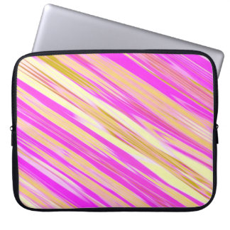 Cotton Candy Stripe Design Laptop Sleeve