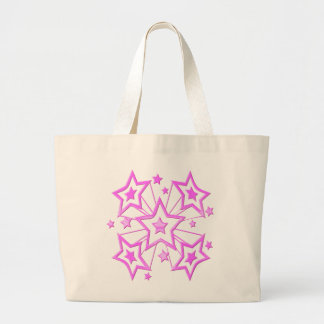 Cotton Candy Stripe Design Large Tote Bag