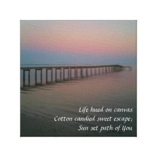 Cotton Candy Sunset Haiku Canvas Print