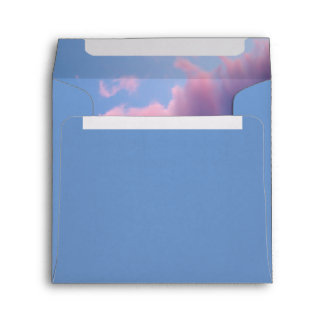 Cotton Candy Sunset Square Envelope