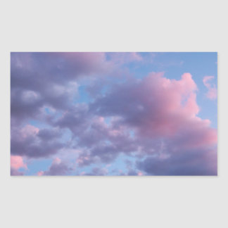 Cotton Candy Sunset Rectangle Sticker