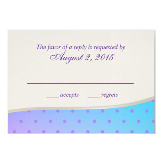 Cotton Candy Sweet RSVP 3.5x5 Paper Invitation Card