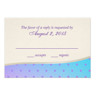 Cotton Candy Sweet RSVP Personalized Invitation