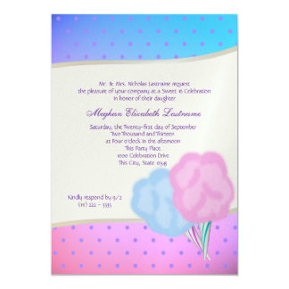 Cotton Candy Sweet Sixteen Birthday 5x7 Paper Invitation Card