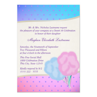 Cotton Candy Sweet Sixteen Birthday Card