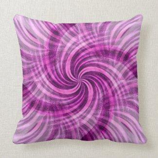 Cotton Candy Swirl American MoJo Pillow throwpillow