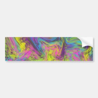 Cotton Candy Swirl Bumper Sticker