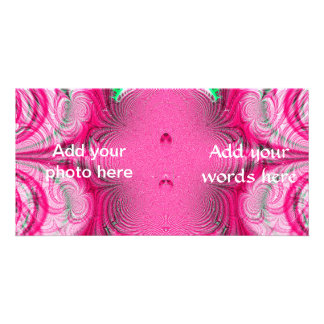 Cotton Candy Swirls Fractal Picture Card