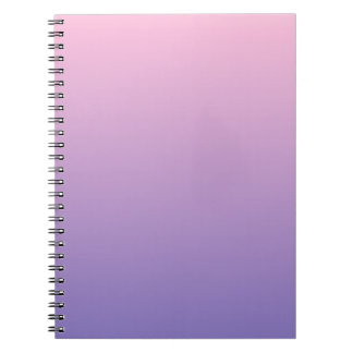 Cotton Candy to Ube Horizontal Gradient Spiral Note Books