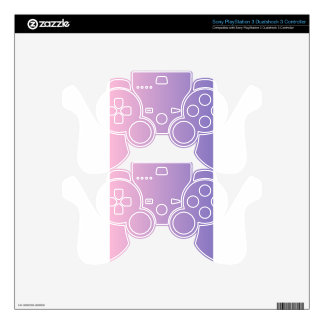 Cotton Candy to Ube Vertical Gradient Skins For PS3 Controllers