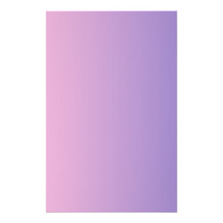 Cotton Candy to Ube Vertical Gradient Stationery Paper