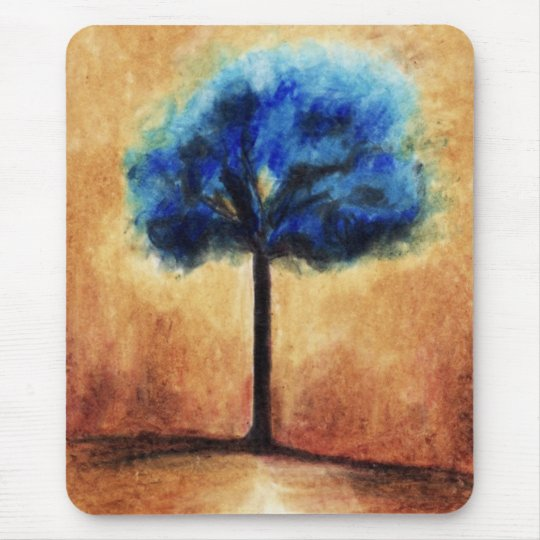Cotton Candy Tree (Blue) Mousepad