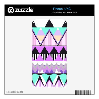 Cotton Candy Tribal iPhone 4/4S Skin iPhone 4S Decals