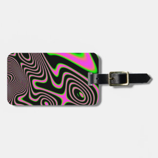Cotton candy Trippy Abstract Bag Tag