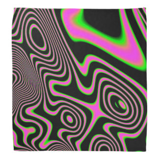 Cotton candy Trippy Abstract Bandana