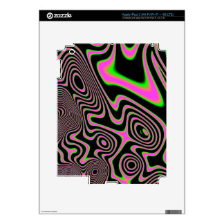 Cotton candy Trippy Abstract Decals For iPad 3
