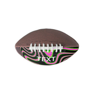 Cotton candy Trippy Abstract Football