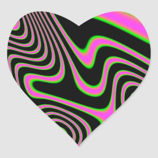 Cotton candy Trippy Abstract Heart Sticker
