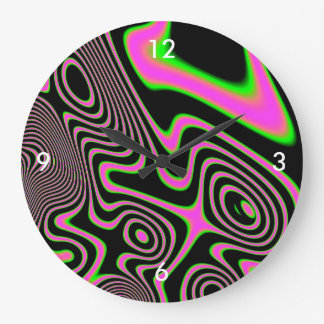 Cotton candy Trippy Abstract Large Clock