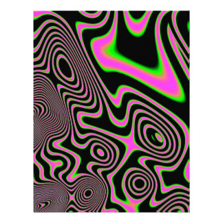 Cotton candy Trippy Abstract Letterhead