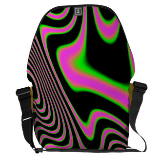 Cotton candy Trippy Abstract Messenger Bag