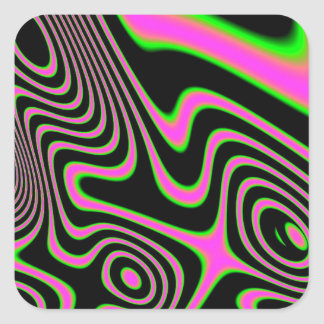 Cotton candy Trippy Abstract Square Sticker
