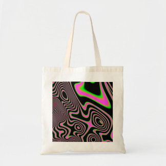 Cotton candy Trippy Abstract Tote Bag