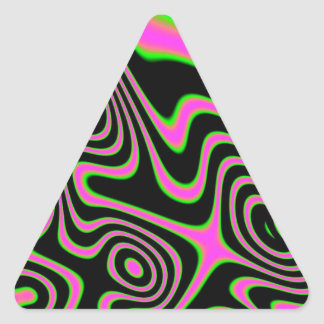Cotton candy Trippy Abstract Triangle Sticker