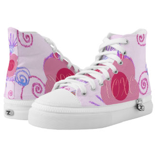 Cotton Candy XOXO Princess wear your latest style High-Top Sneakers