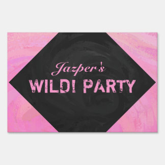 Cotton Candy Lawn Sign