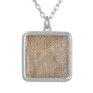Cotton Canvas Silver Plated Necklace