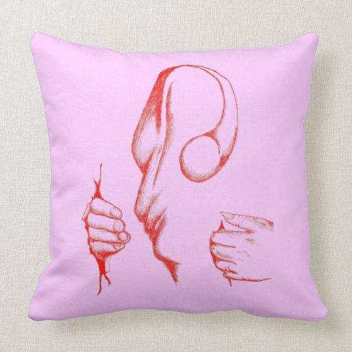 COTTON CARNAGE Grade A Cotton Throw Pillow 20x20