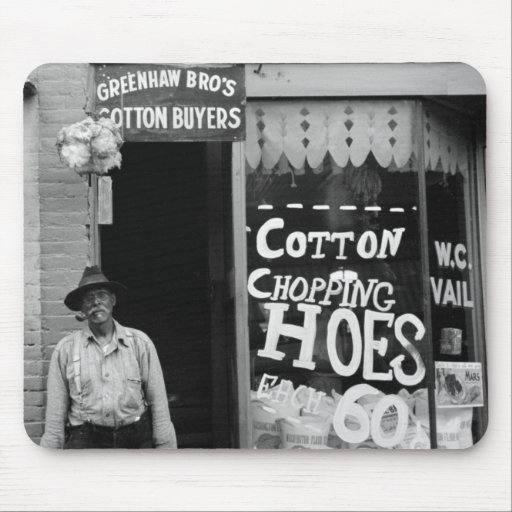 Cotton Chopping Hoes, 1930s Mouse Pad
