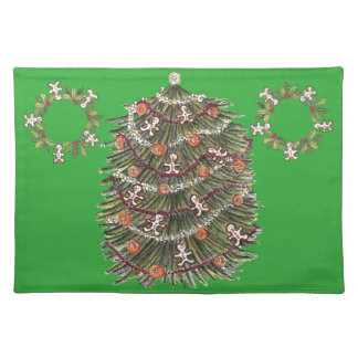 Cotton Christmas Tree Green Placemat