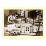 vintage postcard, cotton club, new york city,