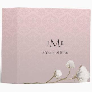 Cotton Damask 2nd Wedding Anniversary Binder