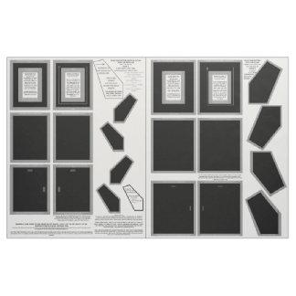 Cotton Fabric 2 Black Photo Frames 5x7 sew pattern