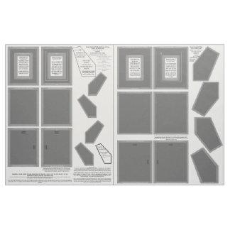 "Cotton Fabric 2 Gray Photo Frames 5x7"" sew pattern"