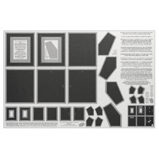 Cotton Fabric 3 Black photo frames sewing pattern