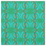 Cotton Fabric -Crafts- Home-Blue/Orange/Green/Teal