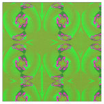 Cotton Fabric -Crafts- Home-Green/Pink