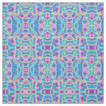 Cotton Fabric- Crafts-Home- Pink/Blue/Purple/Creme Fabric