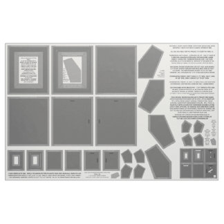 Cotton Fabric make 3 gray photo frames sew pattern