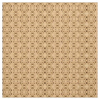 Cotton Fabric - Weaved Pattern on Brown & Tan