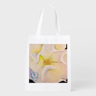 Cotton Flower Reuseable Bag Market Totes