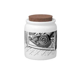 cotton gin bW Candy Jar